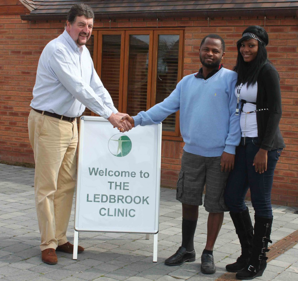 Patients visiting the clinic from Nigeria.