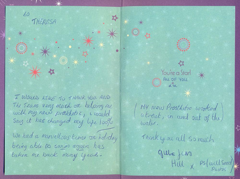 Gillian's Thank You Card